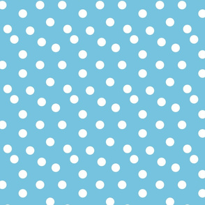 Polka Dots - Soft Blue by Andrea Lauren