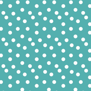 Polka dots - TIffany Blue by Andrea Lauren