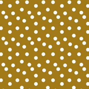 Polka Dots - Ochre by Andrea Lauren