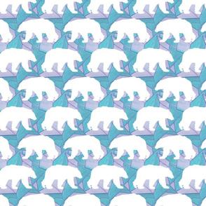 Geo Polar Bear in Lilac Blue