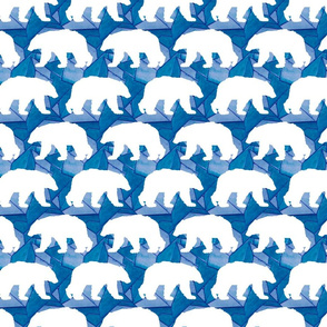 Geo Polar Bear In Navy