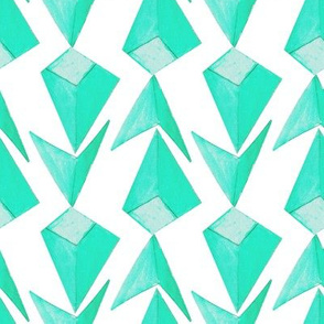 Triangle Blue-Green Large