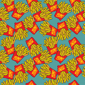 Would You Like Fries With That? small teal black