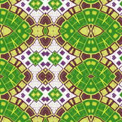 Green, Purple and Gold Abstract Design Pattern