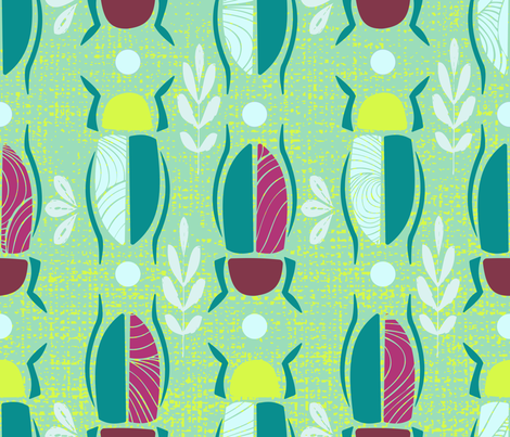 bugs nature fabric by lilliblomma on Spoonflower - custom fabric