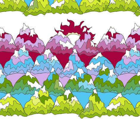 Mountains: Ben-Day Dots
