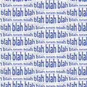 blah blah blah (morning blue)