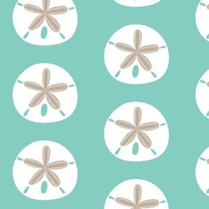 Sand Dollar (Medium) on Aqua