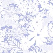 Garden Flora in Periwinkle Lavender