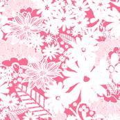 Garden Flora in Summer Pink