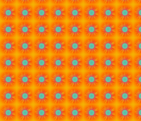 starburst-orangewithpurple fabric by mammajamma on Spoonflower - custom fabric
