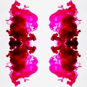 Pink Ink Drop Macro Photography