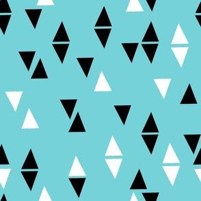 Triangles Coordinate - Aqua by Andrea Lauren