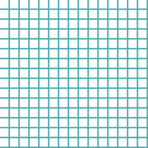 Grids - Tiffany Blue by Andrea Lauren