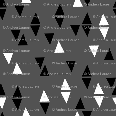 Triangles Coordinate - Charcoal by Andrea Lauren