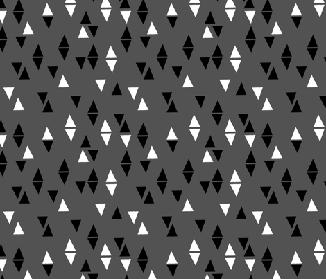 Triangles Coordinate - Charcoal by Andrea Lauren fabric by andrea_lauren on Spoonflower - custom fabric
