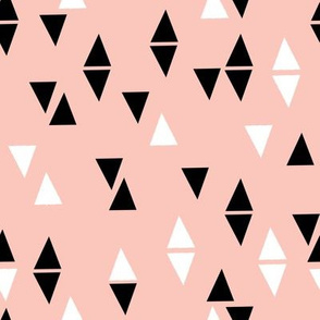 Triangles Coordinate - Pale Pink