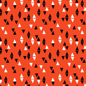 Triangles Coordinate - Vermillion by Andrea Lauren