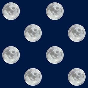navy midnight moon