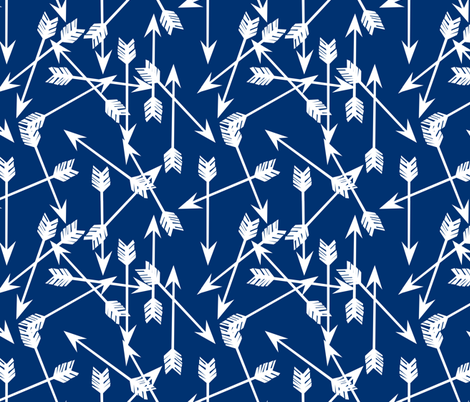 Arrows - Navy by Andrea Lauren