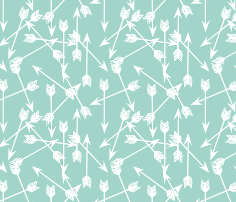 Arrows - Pale Turquoise by Andrea Lauren
