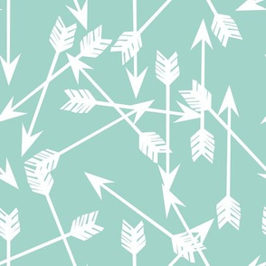 arrows scattered // mint pastel southwest baby nursery