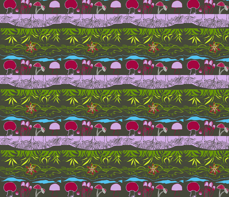 hiking sights fabric by checcola on Spoonflower - custom fabric