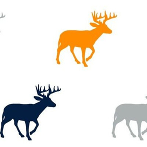 Multi Deer // Great Outdoors // Navy-Grey-Orange