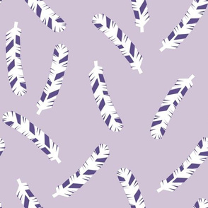 Feathers - Plum/Lavender by Andrea Lauren