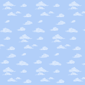 Oriental Clouds in River Blue