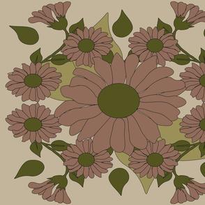 vintage flowers bed