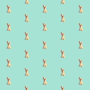 Easter Bunny on Aqua