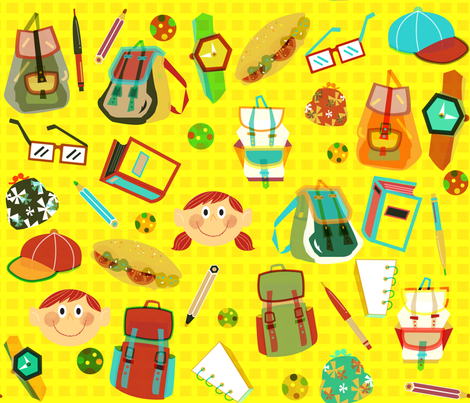 back to school fabric by misslin on Spoonflower - custom fabric