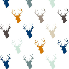 Navy Orange Deer