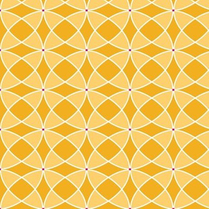 seventies abstract in yellows