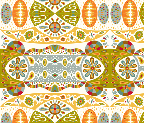 Bohemian fabric by andibird on Spoonflower - custom fabric