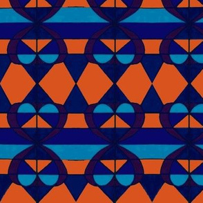 blue and orange hearts  2