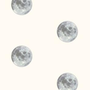 moon pattern cream spaced