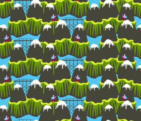 whatta hike fabric by glimmericks on Spoonflower - custom fabric