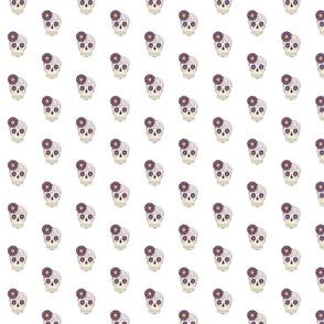 Dia de los Muertos Sugar Skull - Purple on White