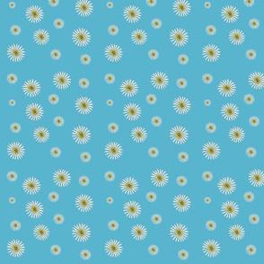 Summer Daisies Flower Print Fabric