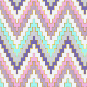 Luxe Chevron in Violet Meadow