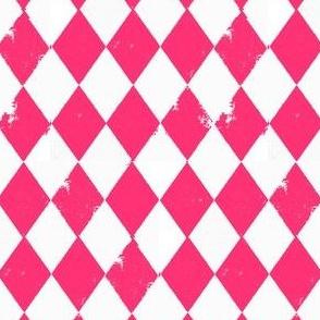 Pink and White Harlequin Diamonds