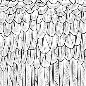 Black and White Feather Mantle