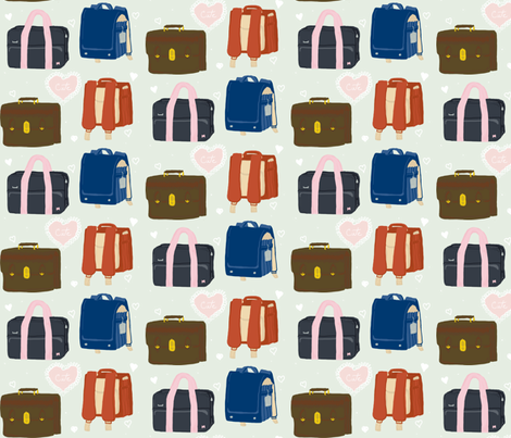 Cute Backpacks fabric by dreamer_emporium on Spoonflower - custom fabric