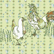 Chicken toile - green