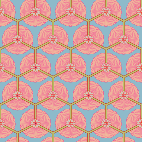 lotus dream fabric by keweenawchris on Spoonflower - custom fabric