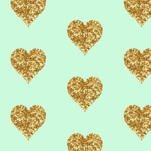 Mint Glitter Heart