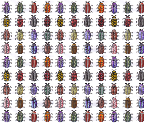 WatercolorBeetles1 fabric by kelleecarr on Spoonflower - custom fabric