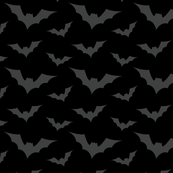 bats on black